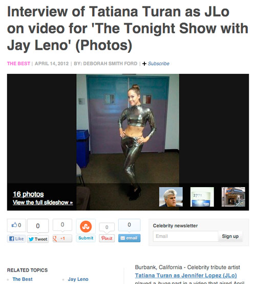 Tatiana on Jay Leno